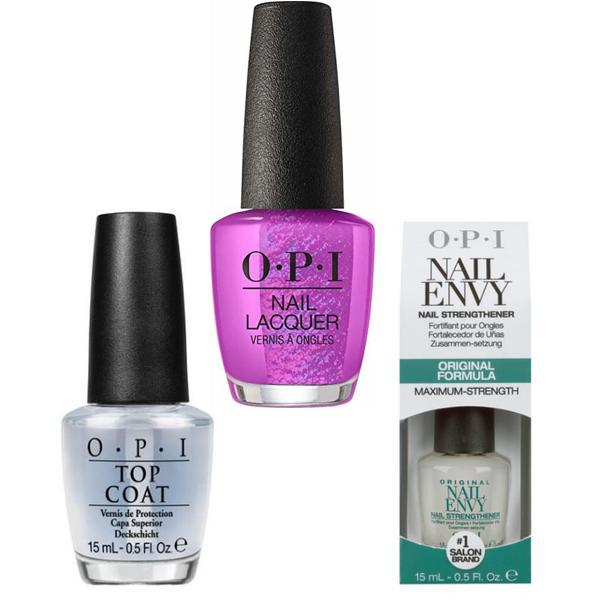 Set - OPI Nail Laquer - Berry Fairy Fun - Lac de Unghii Colorat OPI, Baza OPI, Top OPI imagine produs