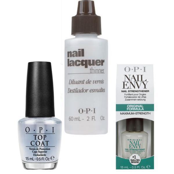 Set - OPI Nail Lacquer Thinner: Diluant pentru Lacul de Unghii OPI, Baza OPI, Top OPI imagine produs