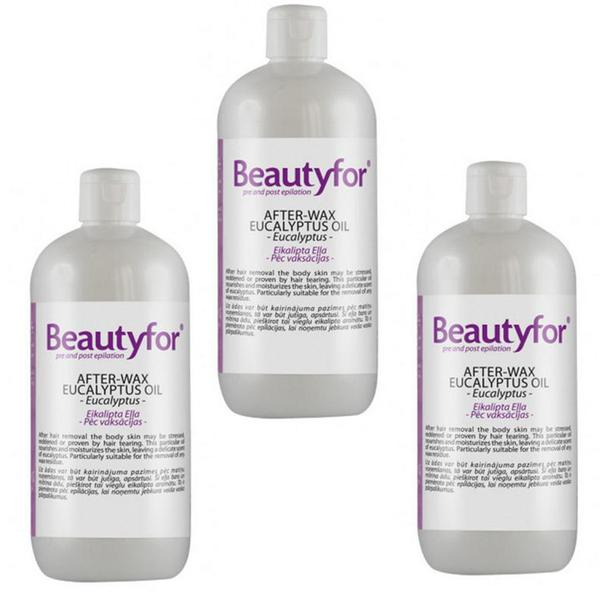 Pachet 3 x Ulei dupa Epilare - Beautyfor - After- Wax Eucalyptus Oil, 500 ml imagine produs