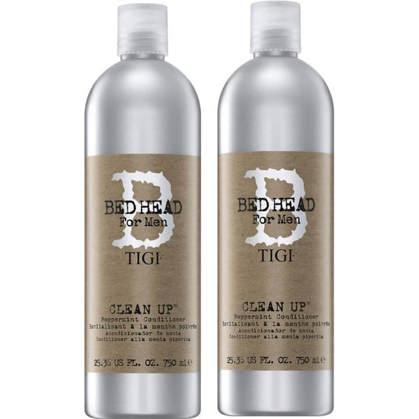 Pachet 2 x Balsam Barbatesc Energizant - TIGI Bed Head for Men Clean Up Peppermint Conditioner 750 ml imagine produs
