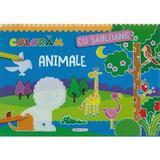 Coloram cu sabloane: Animale, editura Girasol