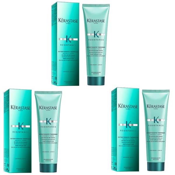 Pachet 3 x Gel-Crema de Protectie Termica pentru Par Lung - Kerastase Resistance Extentioniste Thermique Length Caring Gel Cream, 150ml imagine produs