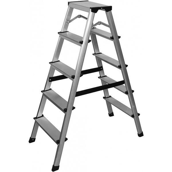 Scara pliabila, aluminiu, 2 x 5 trepte, 134933861 – D&S