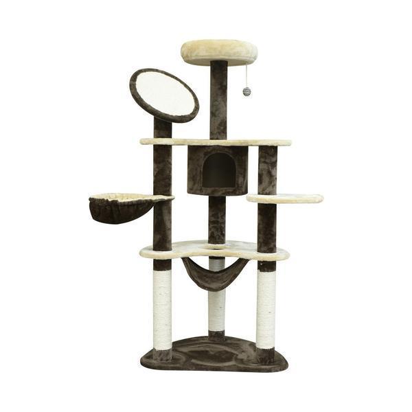 Ansamblu de joaca pentru pisici, Pawhut, 65 x 50 x 153 cm, D2-0027