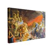Tablou Canvas The Death of Pompeii, 70 x 100 cm, 100% Bumbac