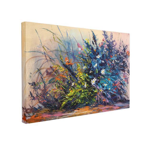 Tablou Canvas Flori Pictate, 40 X 60 Cm, 100% Poliester