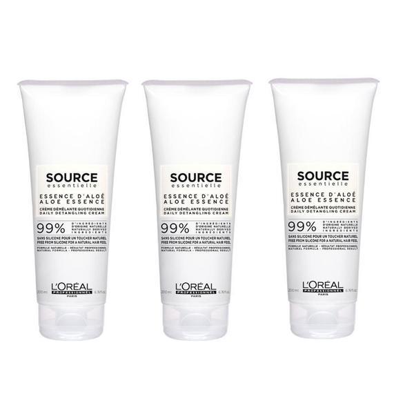 Pachet 3 x Crema pentru Descurcarea Parului - L'Oreal Professionnel Source Essentielle Daily Detangling Cream, 200ml imagine produs