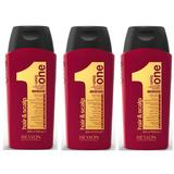 Pachet 3 x Sampon Nutritiv - Revlon Professional Uniq One All In One Conditioning Shampoo 300 ml