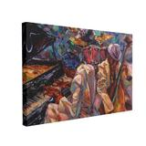 Tablou Canvas Jazz Music, 50 x 70 cm, 100% Poliester