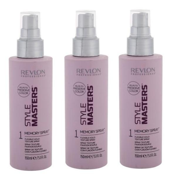 Pachet 3 x Spray pentru Textura cu Fixare Flexibila - Revlon Professional Style Masters Memory Spray Flexible Hold Texture Spray, 150ml imagine produs