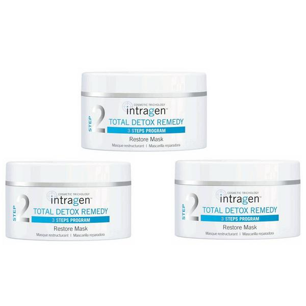 Pachet 3 x Masca Reparatoare – Intragen Total Detox Remedy Restore Mask, 200 ml imagine produs