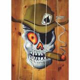Tablou Canvas Skull and Crossbones, 50 x 70 cm, 100% Bumbac