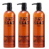 Pachet 3 x Balsam pentru Par Vopsit - TIGI Bed Head Colour Goddess Conditioner 750 ml