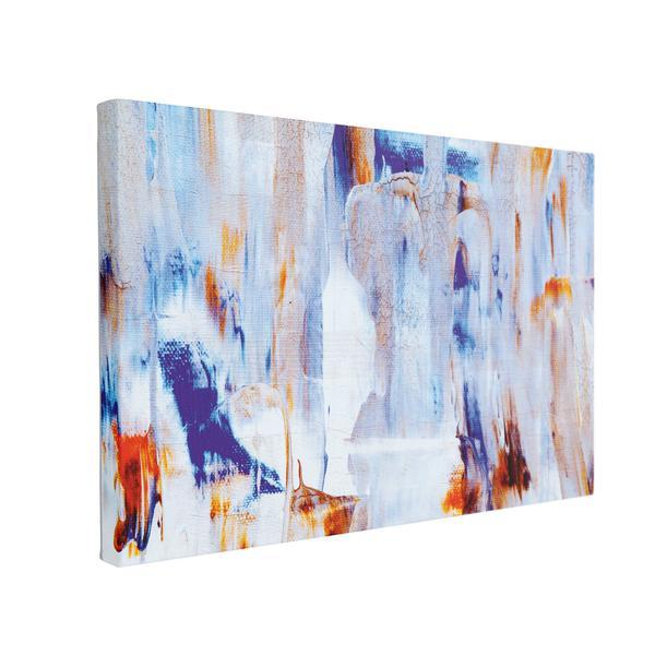 Tablou Canvas Abstract Blue, 50 x 70 cm, 100% Poliester