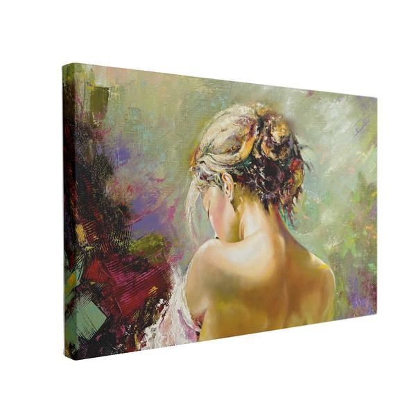 Tablou Canvas Portrait of the Exposed Girl, 70 x 100 cm, 100% Bumbac