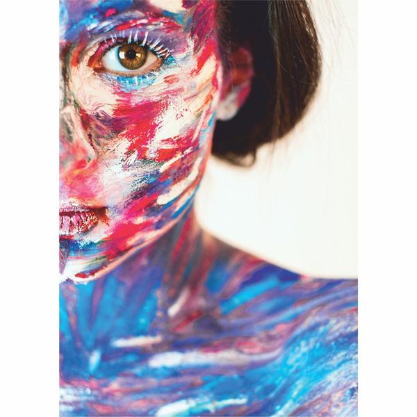 Tablou Canvas Abstract Colourful Girl, 50 x 70 cm, 100% Bumbac