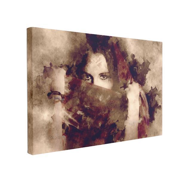 Tablou Canvas Portret Artistic, 40 x 60 cm, 100% Poliester