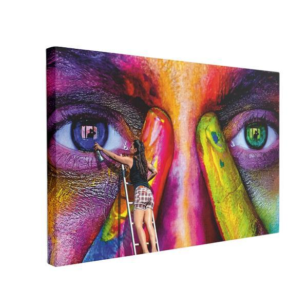 Tablou Canvas Eye Paint, 70 x 100 cm, 100% Bumbac