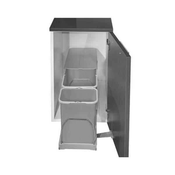Cos de gunoi incorporabil, Patty Automatic, colectare selectiva cu 2 recipiente 1 x 16 litri si 1 x 8 litri – Maxdeco