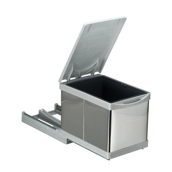 Cos de gunoi incorporabil Pelikan 21750, cu extragere automata, cu un recipient de 12 L – Maxdeco
