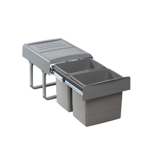 Cos de gunoi Mega incorporabil, colectare selectiva, cu 2 compartimente x15 litri – Maxdeco