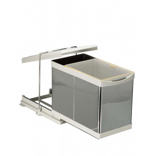 Cos de gunoi incorporabil Pelikan 21300, cu extragere automata , cu un recipient de 16 L si una de 1 L – Maxdeco