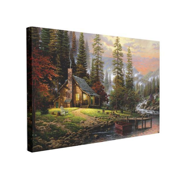 Tablou Canvas Cabana Ideala, 60 x 90 cm, 100% Poliester
