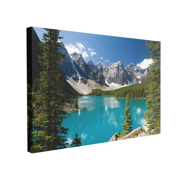 Tablou Canvas Moraine Lake, 40 x 60 cm, 100% Bumbac