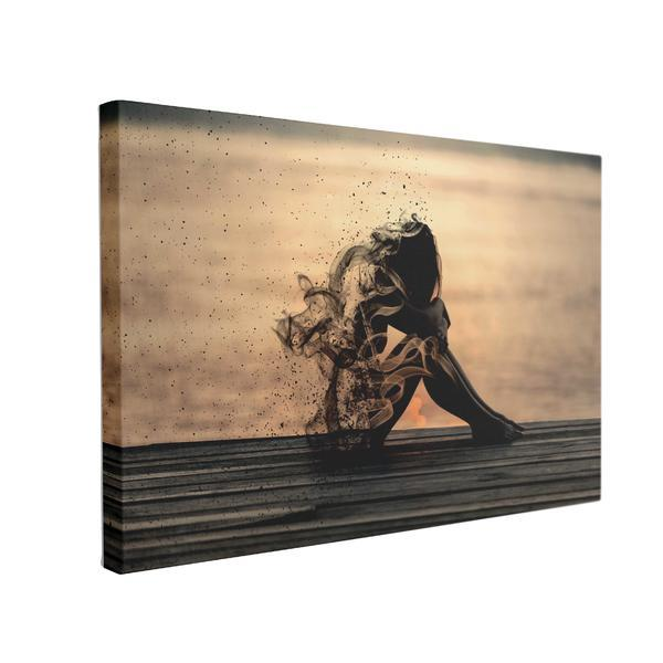 Tablou Canvas Dezintegrare, 50 x 70 cm, 100% Poliester