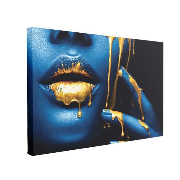 Tablou Canvas Blue Pearl, 60 x 90 cm, 100% Poliester