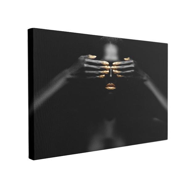 Tablou Canvas Black Pearl, 60 x 90 cm, 100% Bumbac