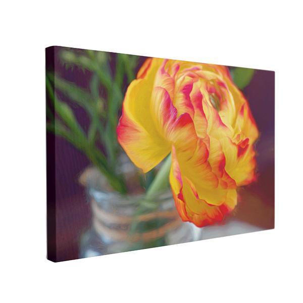 Tablou Canvas Floare de Ranunculus, 70 x 100 cm, 100% Poliester