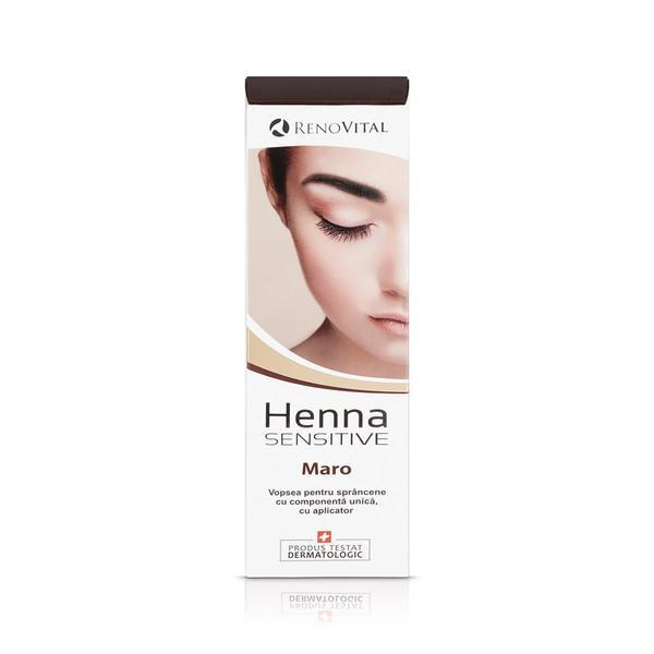 Vopsea crema pentru sprancene, maro, Henna Sensitive, 6 ml imagine produs