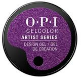 Gel Unghii Semipermanent pentru Design - OPI GelColor Artist Series Grape Minds Think Alike, 6 g