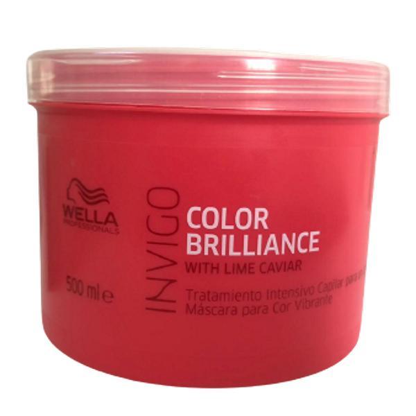 Tratament Intensiv pentru Mentinerea Culorii - Wella Professional Invigo Color Brilliance Vibrant Color, 500 ml imagine