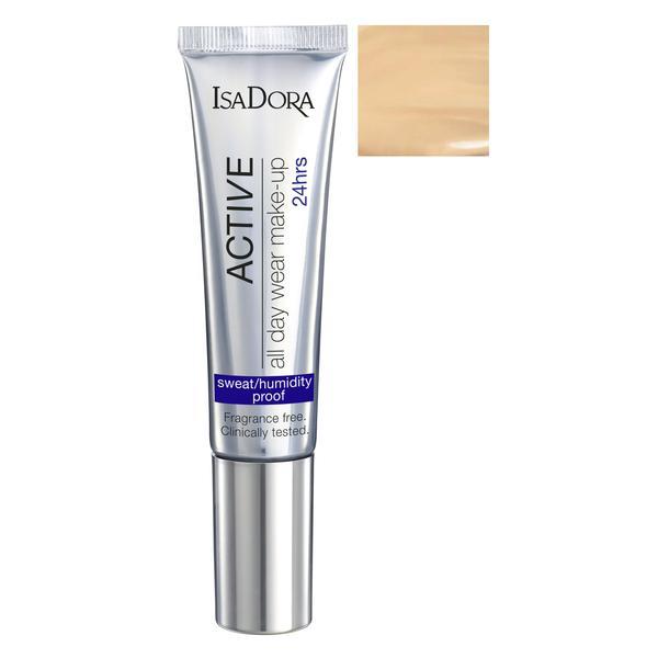 Fond de Ten - Active All Day Wear Make-Up Isadora 35 ml, nuanta 12 Light Honey
