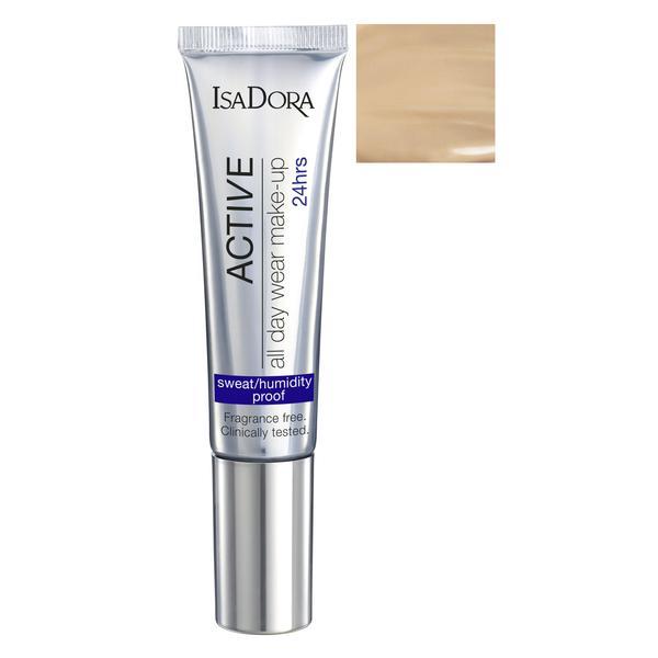 Fond de Ten - Active All Day Wear Make-Up Isadora 35 ml, nuanta 14 Sand