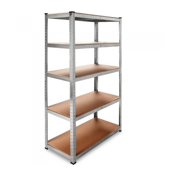 Set 2x Raft depozitare 5 etajere, Reglabil, 875 kg, 180 x 90 x 40 cm – Caerus Capital
