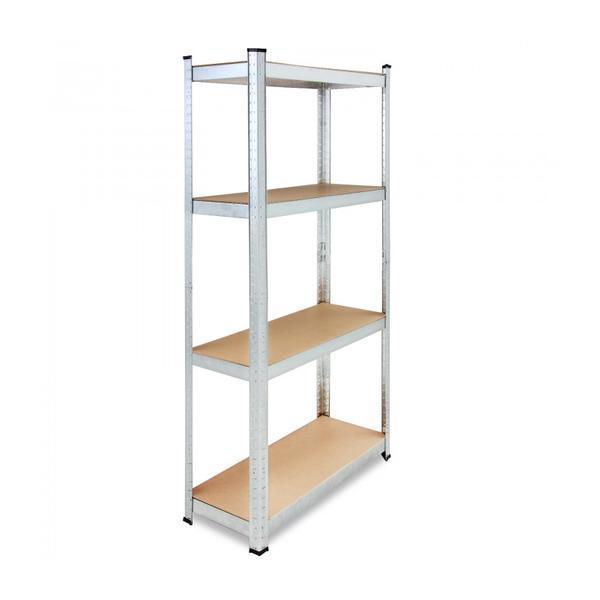 Set 2x Raft depozitare 4 etajere, Reglabil, 700 kg, 160 x 90 x 40 cm – Caerus Capital