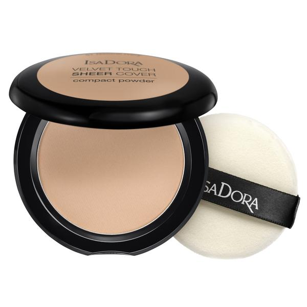 Pudra Compacta - Velvet Touch Sheer Cover Compact Powder Isadora 10 g, nuanta 46 Warm Beige
