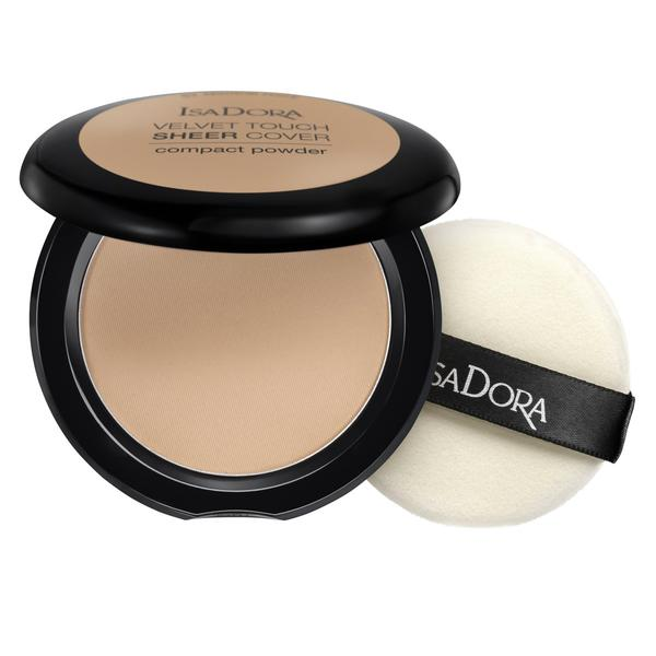 Pudra Compacta - Velvet Touch Sheer Cover Compact Powder Isadora 10 g, nuanta 45 Neutral Beige