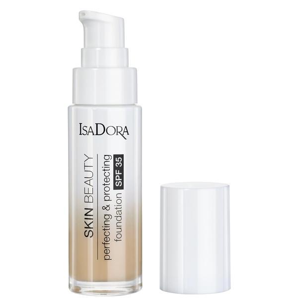 Fond de Ten Protector - Skin Beauty Perfecting & Protecting Foundation SPF 35 Isodora 30 ml, 03 Nude esteto.ro