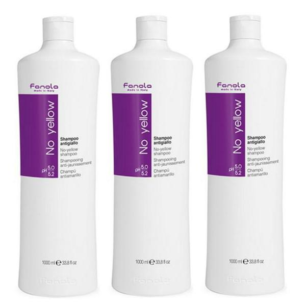 Pachet 3 x Sampon Impotriva Tonurilor de Galben - Fanola No Yellow Shampoo, 1000ml imagine produs