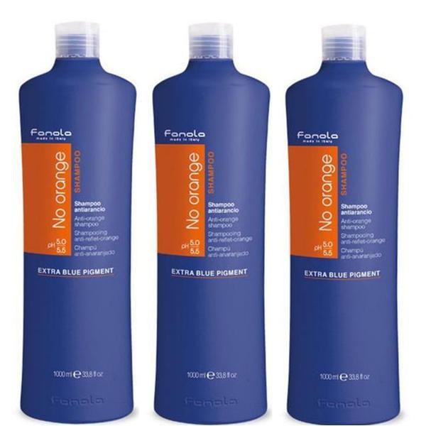 Pachet 3 x Sampon Impotriva Tonurilor de Portocaliu - Fanola No Orange Shampoo, 1000ml imagine produs