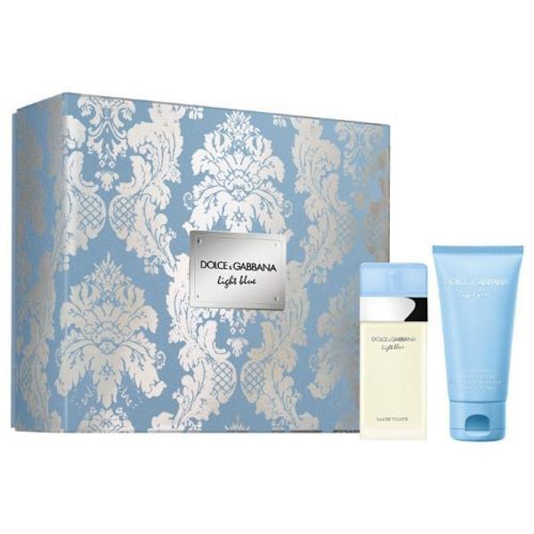 Set apa de toaleta 25ml + Crema pentru corp 50ml Dolce&Gabbana light blue imagine produs