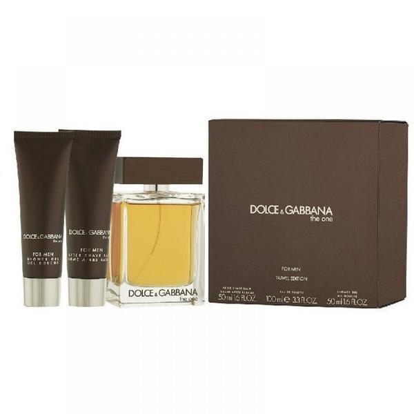 Set apa de toaleta 100ml + after shave 50ml + gel de dus 50ml Dolce&Gabbana the one imagine produs