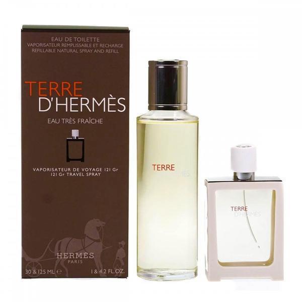 Set Cadou Eau Tres Fraiche Apa De Toaleta 125ml + Apa De Toaleta 30ml Hermes Terre D'hermes