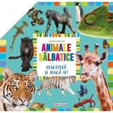 Carte pop-up: Animale salbatice. Descopera si joaca-te, editura Girasol
