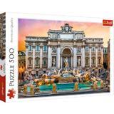 Puzzle 500 trefl fontana di trevi roma