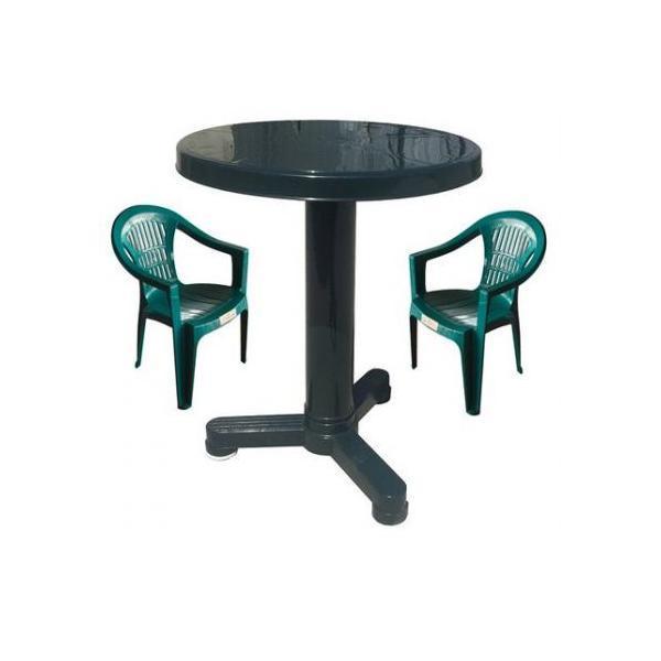 Set balcon masa 60 cm cu 2 scaune Carnaval, culoare verde, Vilhena – Kocin